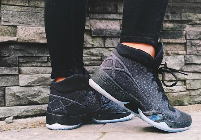 Air Jordan XXX Black Anthracite On Feet