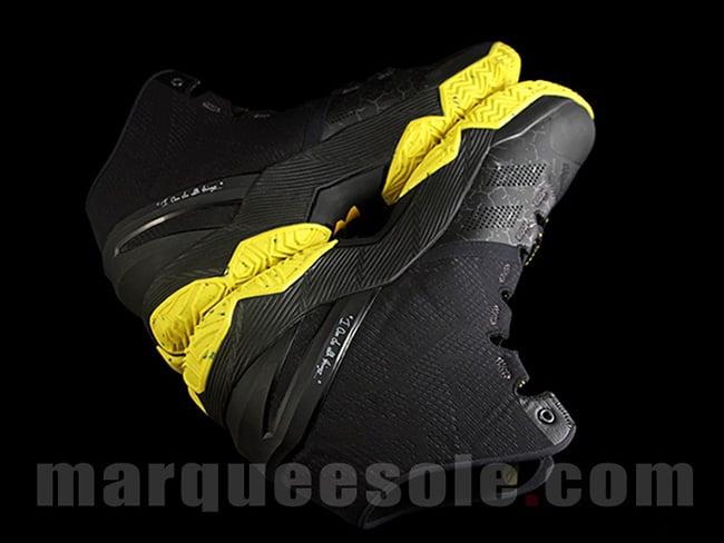 Under Armour Curry 2 Batman Black Yellow