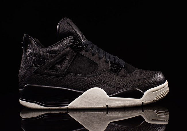 Black Air Jordan 4 Premium Pony