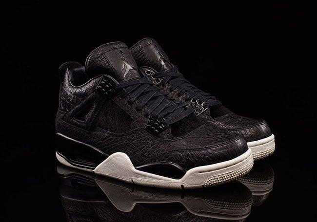 Black Air Jordan 4 Premium Pony