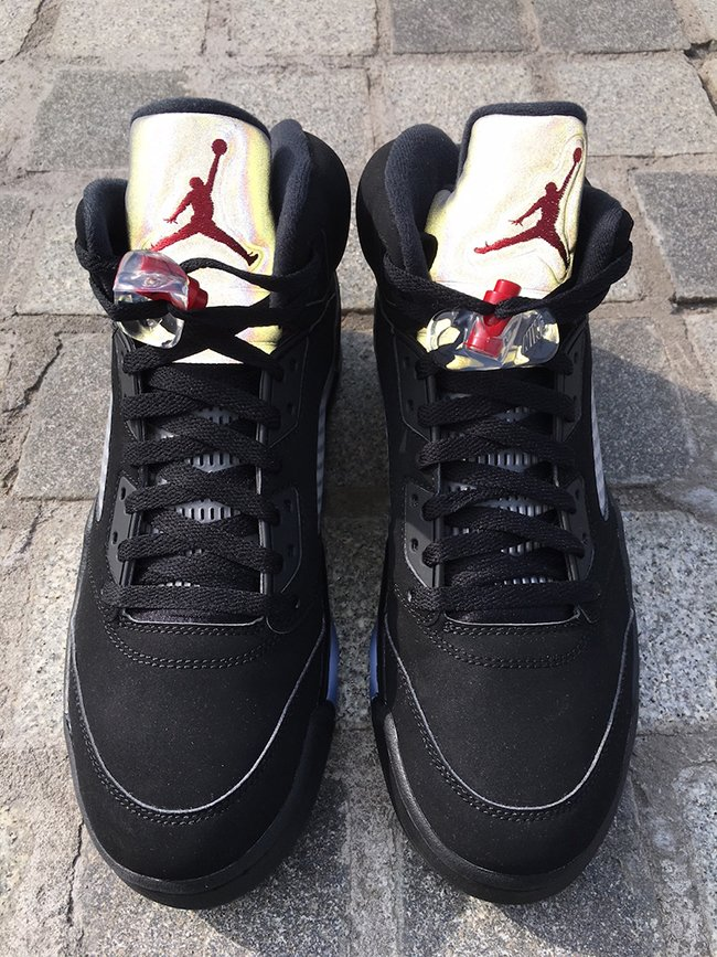 jordan retro 5 black metallic