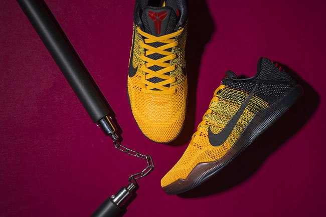 8521fcd8a7a4 Bruce Lee Nike Kobe 11 Warrior Spirit