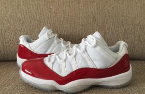 Cherry Air Jordan 11 Low White Varsity Red