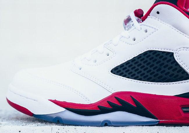 Fire Red Air Jordan 5 Low Release