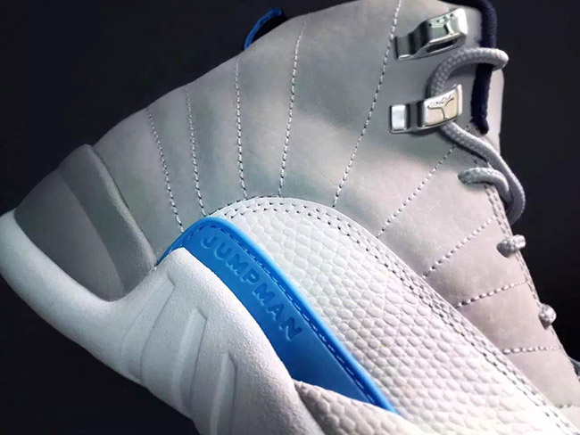 Grey University Blue Air Jordan 12