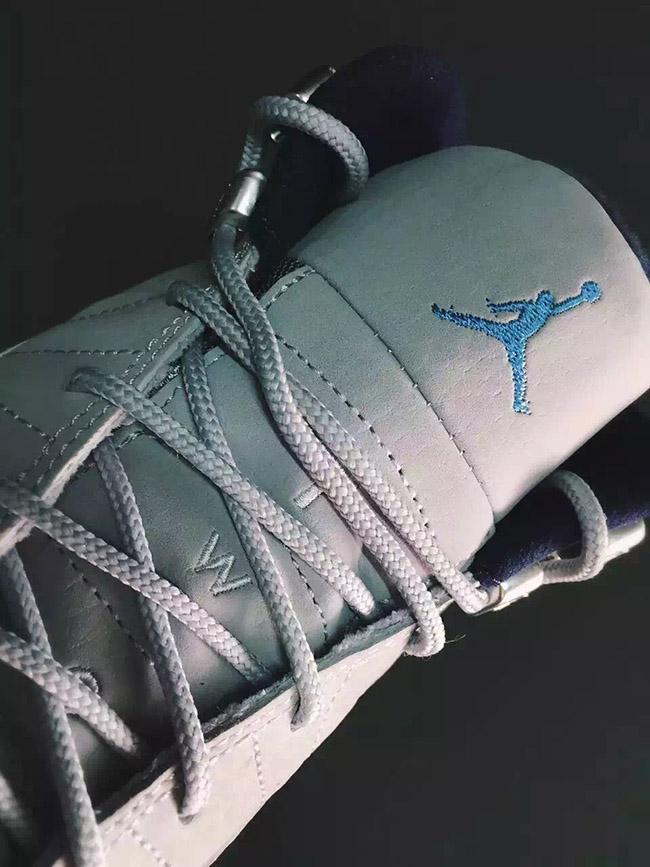 Grey University Blue Air Jordan 12