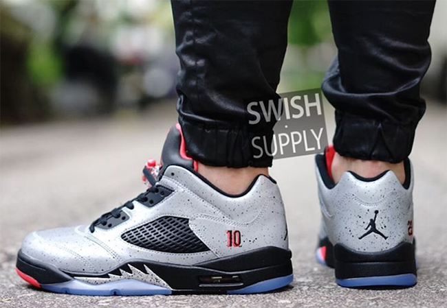 Neymar Air Jordan 5 Low On Feet