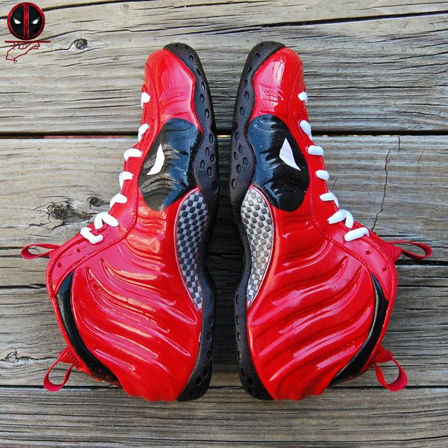 Nike Air Foamposite One Deadpool Custom SneakerFiles