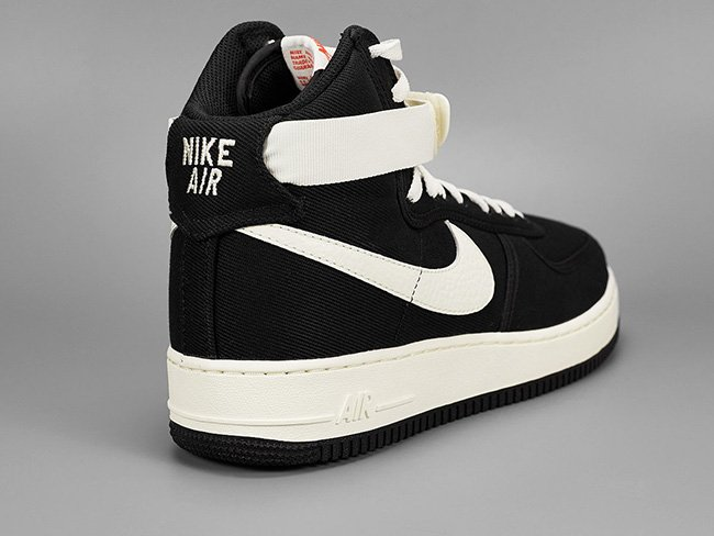 Nike Air Force 1 High Canvas Black Sail