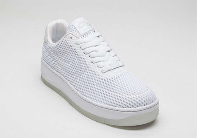 Nike WMNS Air Force 1 Low Upstep BR White White 833123 100