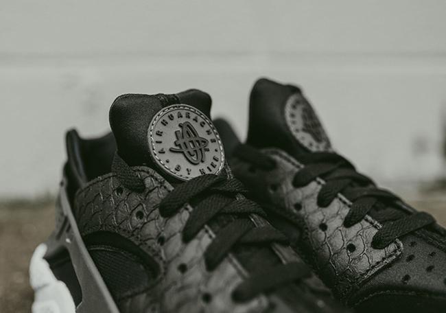 Nike Air Huarache Black Python Snakeskin