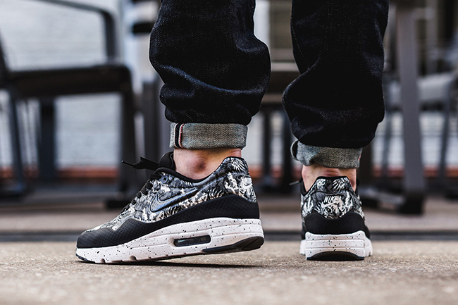 sports shoes 0dfe1 24ed4 best Nike Air Max 1 Ultra Moire Black White Monochrome Floral