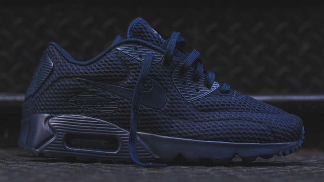 nike air max 90 navy blue and black