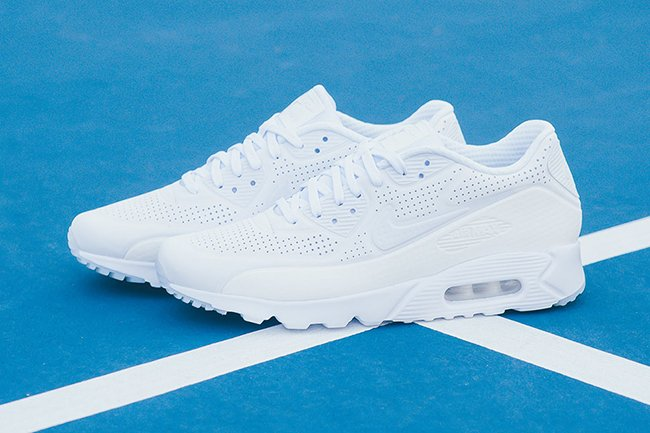 Nike Air Max 90 Ultra Moire Triple White | SneakerFiles