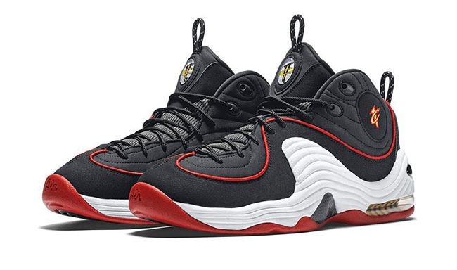 Nike Air Penny 2 Miami Heat Black Red