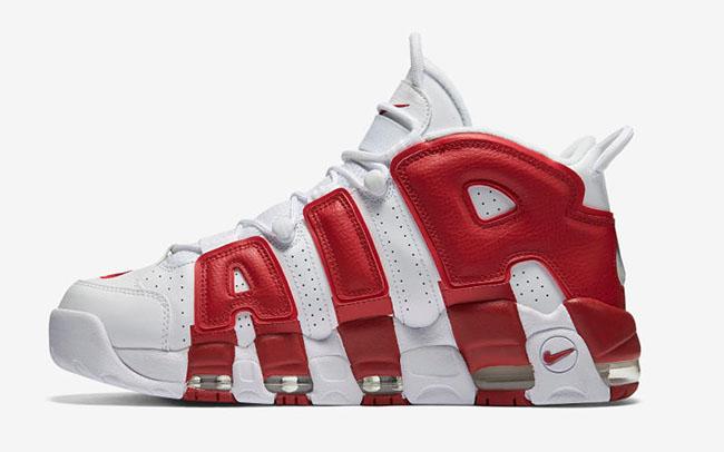 Nike Air More Uptempo White Varsity Red