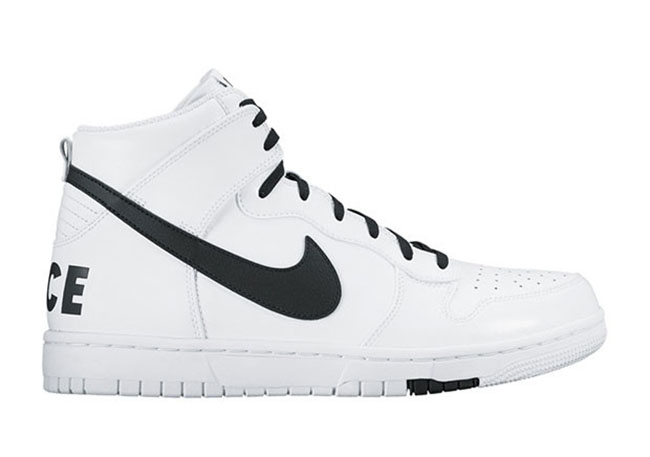 nike dunks white and black