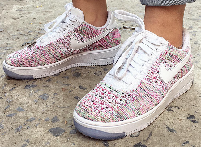detailed look 1b3d8 f8465 Womens Exclusive Nike Flyknit Air Force 1 Low Multicolor is ...