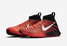 Nike Free Train Force Flyknit Crimson Red Black