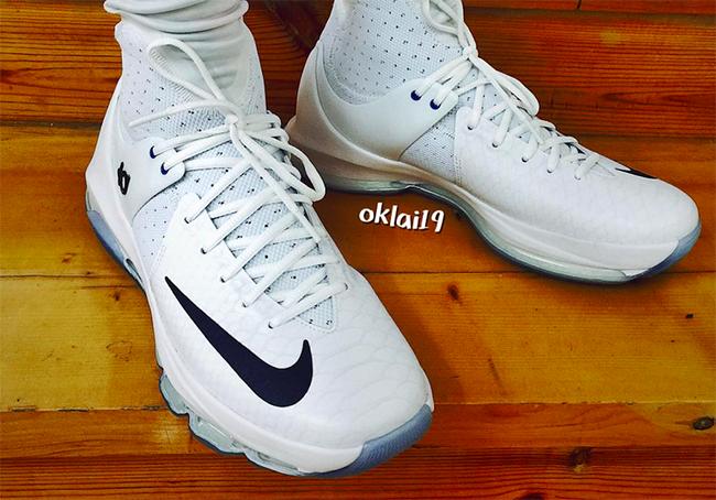 Nike KD 8 Elite White On Feet
