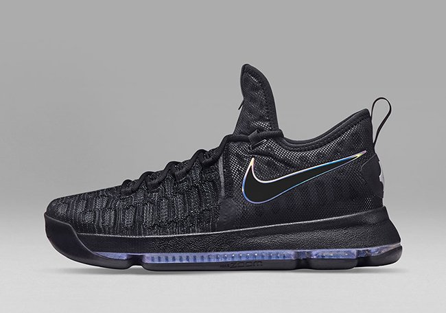 pretty nice d412a 5aded Nike KD 9 Black Blue