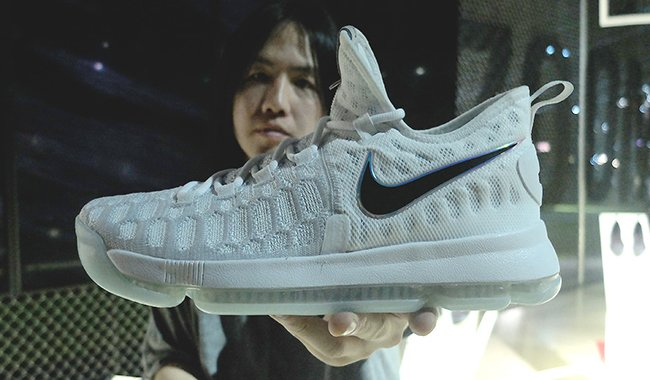 Nike KD 9 White Black Blue