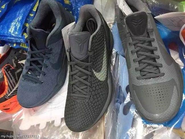 Nike Kobe 5 Kobe 6 Kobe 7 Fade to Black