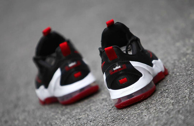 Nike LeBron 13 Low Black Red White Bred