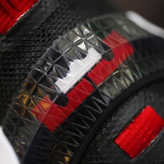 Nike LeBron 13 Low Black Red White Bred
