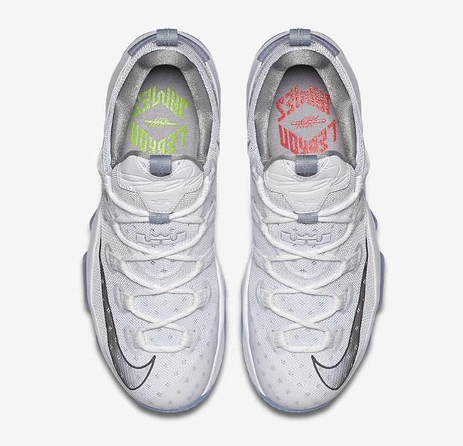 best website f0202 9f3da Nike LeBron 13 Low High Velocity Metallic Silver