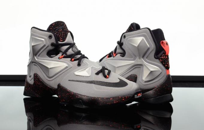 98e5cba5a22bb Nike LeBron 13 Silver Energy Black