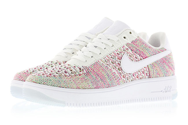 online store 88f14 54751 high-quality Womens Exclusive Nike Flyknit Air Force 1 Low Multicolor is  Releasing