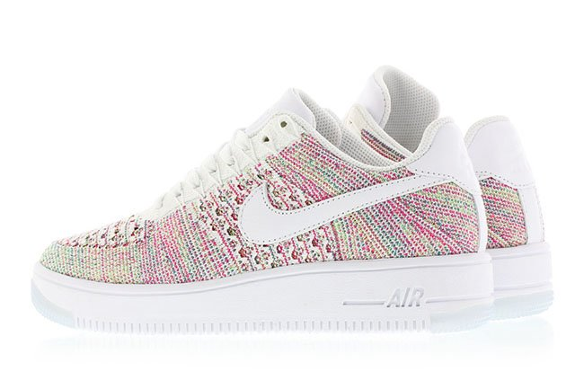 Nike Air Force 1 Flyknit Low White/Radiant Emerald/Green Strike/
