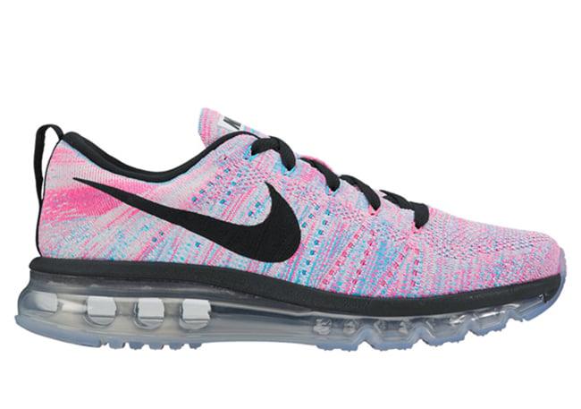3337385eabdf Nike WMNS Flyknit Air Max Chlorine Blue Pink Blast
