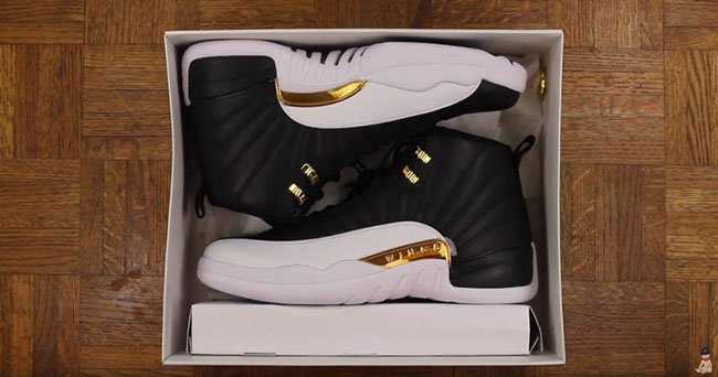 Wings Air Jordan 12 Black Gold