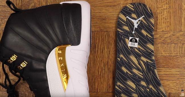 Wings Air Jordan 12 Black Gold
