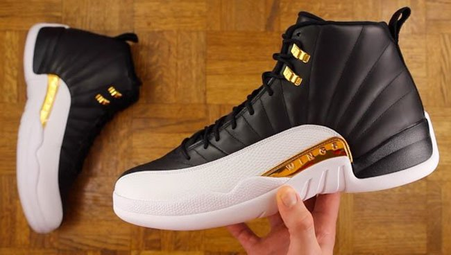 online store 986c4 fa04e Wings Air Jordan 12 Black Gold