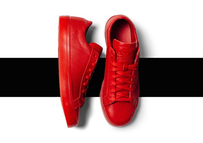 adidas Court Vantage Adicolor Red Yellow