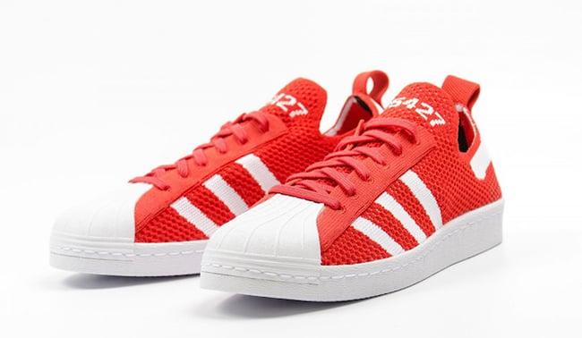 adidas Superstar 80s Primeknit Red White