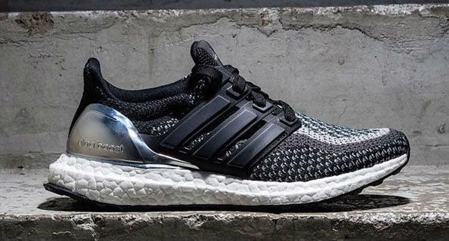 adidas ultra boost black silver sneakerfiles. Black Bedroom Furniture Sets. Home Design Ideas