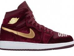 Air Jordan 1 Velvet Night Maroon Gold