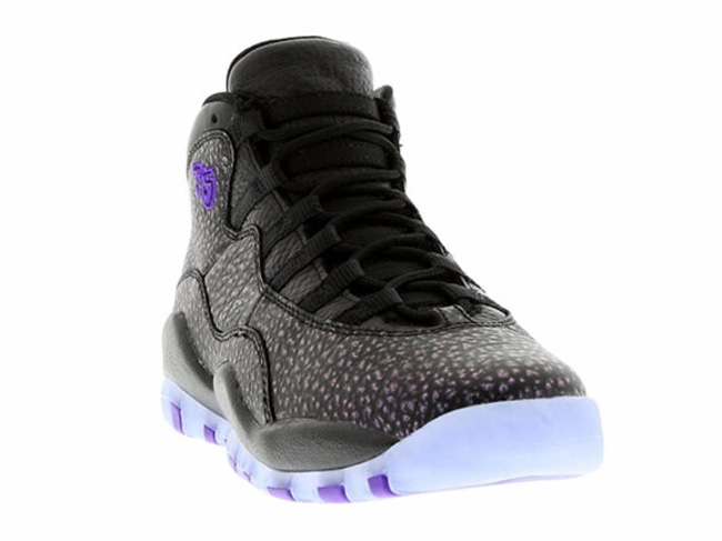 Air Jordan 10 Black Fierce Purple City