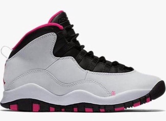 83a0539596eb Air Jordan 10 GS Pure Platinum Vivid Pink