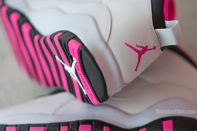 d0dcb1f0736b Air Jordan 10 Vivid Pink Pure Platinum Black