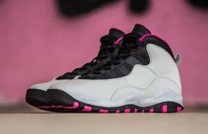 Air Jordan 10 Vivid Pink Pure Platinum Black