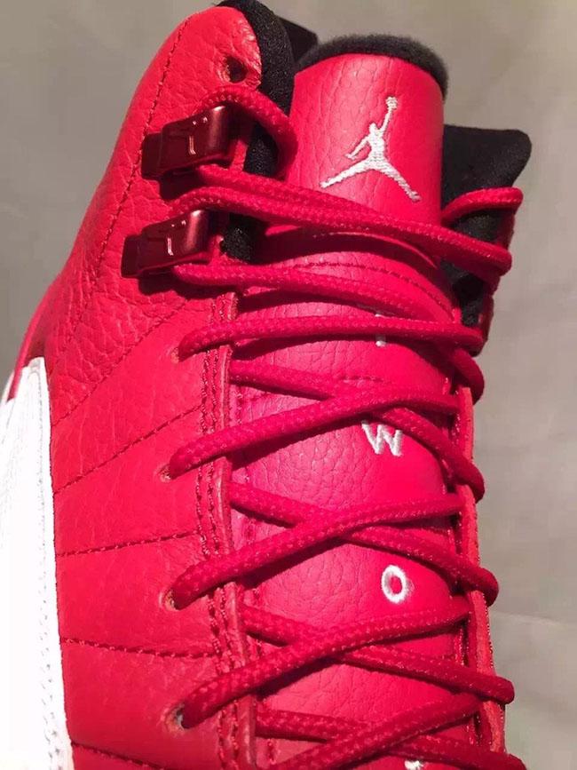 Air Jordan 12 Red White Black