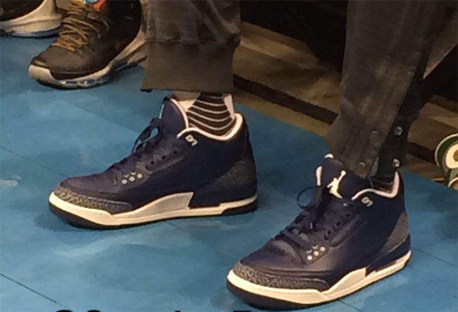 Air Jordan 3 Navy White Russell Westbrook