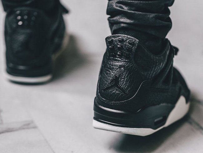 Air Jordan 4 Premium Black Anthracite Sail
