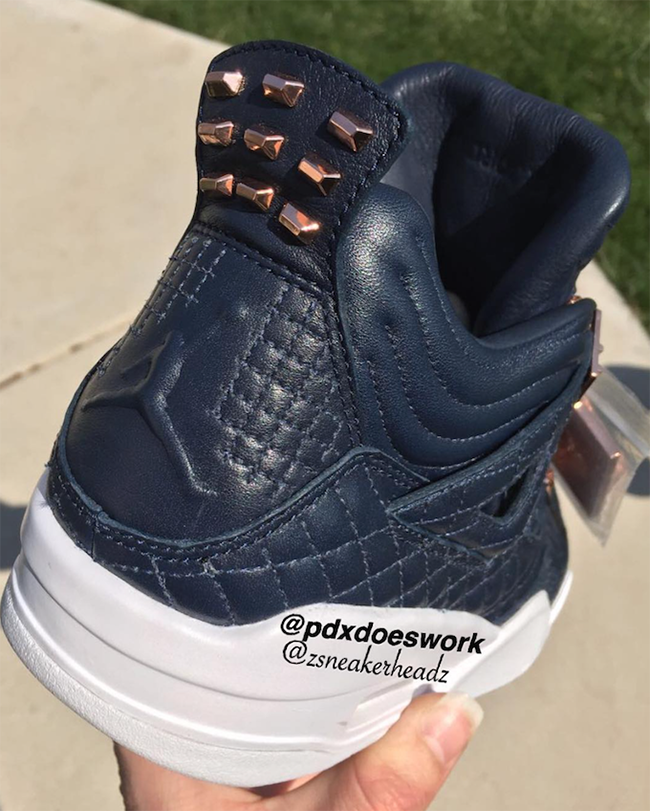 0e635db14414 Air Jordan 4 Premium Obsidian Navy White