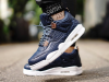 Air Jordan 4 Premium Obsidian On Feet